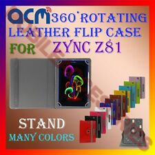 ACM-ROTATING 360° LEATHER FLIP STAND COVER  CASE for ZYNC Z81 TABLET TAB LATEST