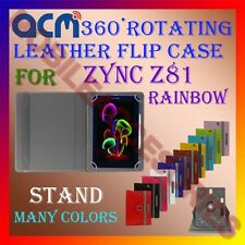 ACM-ROTATING 360° LEATHER FLIP STAND COVER  CASE for ZYNC Z81 RAINBOW TABLET