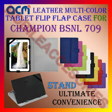 ACM-LEATHER FLIP MULTI-COLOR COVER CASE STAND for CHAMPION BSNL 709 TABLET TAB