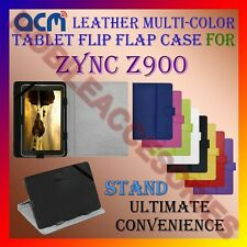 ACM-LEATHER FLIP MULTI-COLOR COVER CASE STAND for ZYNC Z900 TABLET TAB CARRY NEW