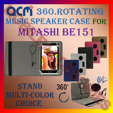 "ACM-PORTABLE MUSIC SPEAKER 360° ROTATING 7"" CASE for MITASHI BE151 TABLET COVER"