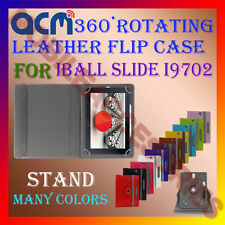 ACM-ROTATING 360° LEATHER FLIP STAND COVER CASE for IBALL SLIDE I9702 TAB CARRY