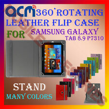 ACM-ROTATING 360° LEATHER FLIP STAND COVER CASE for SAMSUNG GALAXY TAB 8.9 P7310