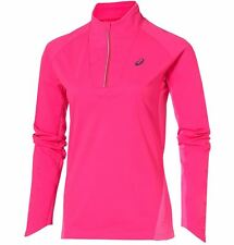 Asics Longsleeve Winter 1/2 Zip Damen Laufshirt Pink Glow Training 126254-0692