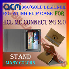 ACM-DESIGNER ROTATING 360° FLIP STAND COVER CASE for HCL ME CONNECT 2G 2.0 TAB
