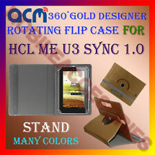ACM-DESIGNER ROTATING 360° FLIP STAND COVER CASE for HCL ME U3 SYNC 1.0 TABLET