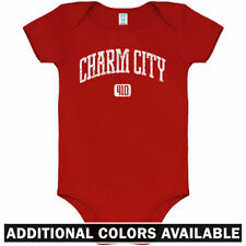 Charm City 410 Baltimore One Piece - Orioles Baby Infant Creeper Romper NB-24M