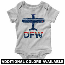 Fly DFW Airport One Piece - Dallas Ft Worth TX Baby Infant Creeper Romper NB-24M