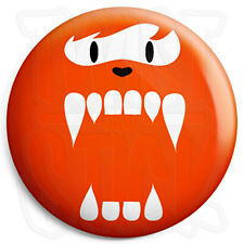 Cute Fuzzy Face Monster - 25mm Horror Button Badge with Fridge Magnet Option