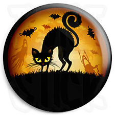 Halloween Cat - 25mm Trick or Treat Button Badge with Fridge Magnet Option