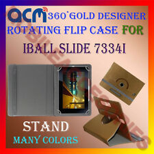 ACM-DESIGNER ROTATING 360° FLIP STAND COVER CASE for IBALL SLIDE 7334I TABLET