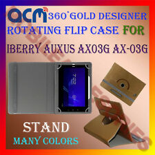 ACM-DESIGNER ROTATING 360° FLIP STAND COVER CASE for IBERRY AUXUS AX03G AX-03G