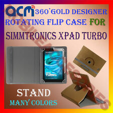ACM-DESIGNER ROTATING 360° FLIP STAND COVER CASE for SIMMTRONICS XPAD TURBO TAB