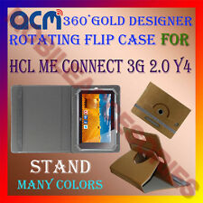 ACM-DESIGNER ROTATING 360° FLIP STAND COVER CASE HCL ME CONNECT 3G 2.0 Y4 TAB