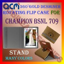 ACM-DESIGNER ROTATING 360° FLIP STAND COVER CASE for CHAMPION BSNL 709 TABLET