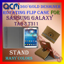 ACM-DESIGNER ROTATING 360° FLIP STAND COVER CASE for SAMSUNG GALAXY TAB 3 T311