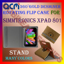 ACM-DESIGNER ROTATING 360° FLIP STAND COVER CASE for SIMMTRONICS XPAD 801 TABLET