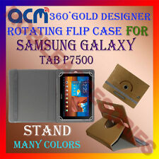 ACM-DESIGNER ROTATING 360° FLIP STAND COVER CASE for SAMSUNG GALAXY TAB P7500