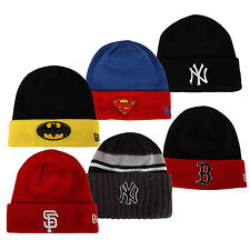 New Era Beanie Mütze Wintermütze NY Superman Batman Giants Yankees MLB Strick