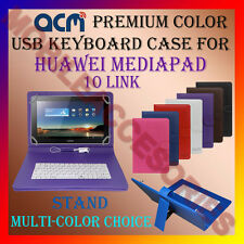 """ACM-USB COLOR KEYBOARD 10"""" CASE for HUAWEI MEDIAPAD 10 LINK LEATHER COVER STAND"""
