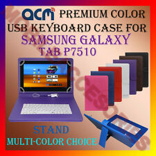 "ACM-USB COLOR KEYBOARD 10"" CASE for SAMSUNG GALAXY TAB P7510 LEATHER COVER STAND"