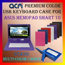 "ACM-USB COLOR KEYBOARD 10"" CASE for ASUS MEMOPAD SMART 10 LEATHER COVER STAND"