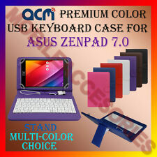 "ACM-USB COLOR KEYBOARD 7"" CASE for ASUS ZENPAD 7.0 LEATHER TABLET COVER STAND"