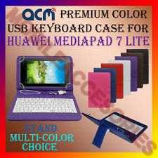 "ACM-USB COLOR KEYBOARD 7"" CASE for HUAWEI MEDIAPAD 7 LITE LEATHER COVER STAND"