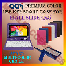 "ACM-USB COLOR KEYBOARD 7"" CASE for IBALL SLIDE Q45 TABLET LEATHER COVER STAND"