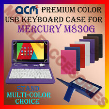 "ACM-USB COLOR KEYBOARD 7"" CASE for MERCURY M830G TABLET LEATHER COVER STAND NEW"
