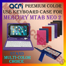 "ACM-USB COLOR KEYBOARD 7"" CASE for MERCURY MTAB NEO 2 TABLET LEATHER COVER STAND"