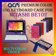 "ACM-USB COLOR KEYBOARD 7"" CASE for MITASHI BE102 TABLET LEATHER COVER STAND NEW"