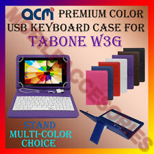"ACM-USB COLOR KEYBOARD 7"" CASE for TABONE W3G TABLET LEATHER COVER STAND CARRY"