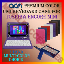 "ACM-USB COLOR KEYBOARD 7"" CASE for TOSHIBA ENCORE MINI TAB LEATHER COVER STAND"