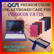 "ACM-USB COLOR KEYBOARD 7"" CASE for VIDEOCON VA72K TABLET LEATHER COVER STAND NEW"