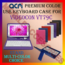 "ACM-USB COLOR KEYBOARD 7"" CASE for VIDEOCON VT79C TABLET LEATHER COVER STAND NEW"