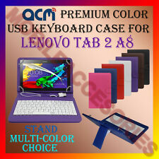 "ACM-USB COLOR KEYBOARD 8"" CASE for LENOVO TAB 2 A8 TABLET LEATHER COVER STAND"