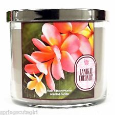 1 Bath & Body Works LANIKAI COCONUT 3-Wick Scented 14.5 oz Large Candle