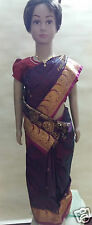 Indian Ethnic Easy 2Wear Readymade Silk type Kids Saree With Blouse Dark Pink