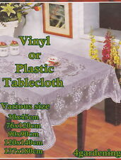WIPE CLEAN PVC Vinyl OR Plastic Tablecloth Dining Kitchen Table Cover Protector