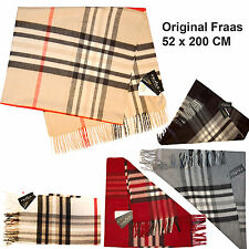 XXL Original German FRAAS Schal Winter Nova Check Kariert Tuch 52 x 200CM Karo