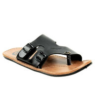Guardian Sandal in Brown & Black Colors Suede Leather Mens Thong Slippers
