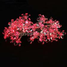 40-LED Battery Operated Spring Peach Blossom String Lights Xmas Decor 2 Colors
