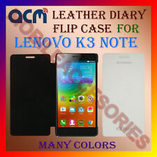 ACM-LEATHER DIARY FOLIO FLIP FLAP CASE for LENOVO K3 NOTE FRONT & BACK COVER NEW
