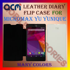 ACM-LEATHER DIARY FOLIO FLIP FLAP CASE for MICROMAX YU YUNIQUE FRONT/BACK COVER