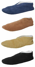 Boys Ladies Suede Leather Faux Sheepskin Lined Shoes Spanish Slippers Size 3-9