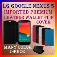 ACM-MULTI-COLOR IMPORTED PREMIUM LEATHER CASE for LG GOOGLE NEXUS 5 MOBILE COVER