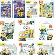 Minions Despicable Me Play Pack - Sticker Paradise - Coloring - Poster Art Set