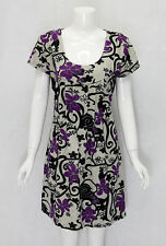 Women's Unique Fashionable Knitted Tunic Dress with Branches Prints