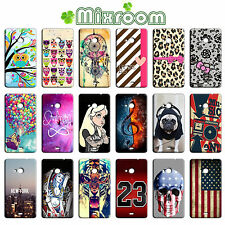 CUSTODIA COVER CASE MORBIDA IN TPU PER NOKIA LUMIA N625 625  FANTASIE C